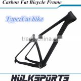 New 190/197mm spacing of carbon fat bike frame with bsa bb 26er full carbon snow bicycle frame