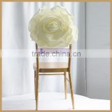 C313A cheap white ivory flower weeding banquet chair cover