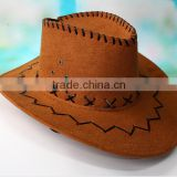 In-stock wholesale Leather sweatbands Cowboy Hats outdoor climbing Character Style female and Male Gender Cowboy Hat