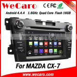 "Wecaro Android 4.4.4 car dvd player 7"" touch screen for mazda cx-7 navigation sd card WIFI 3G mirror link 2012 +"
