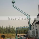 hydraulic arm lift platform hydraulic arm lift ,crank lift platform,self propelled articulated cherry picker with CE 2014