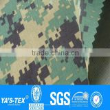 Waterproof breathable mesh bonded camo fabric