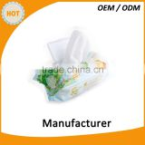 High quality 80pcs baby wipes alcohol free with plastic cover