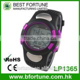 LP1365 plastic case LCD stainless steel Case back Pedometer crane sports heart rate monitor sports watch