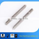 Nickel plated double end metal knurled rod