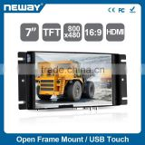 TFT Panel Type and Portable Application 7 inch lcd tv monitor