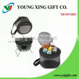 Homemade BBQ grill with Cooler bag,movable BBQ Grill,portable BBQ Grill,Charcoal BBQ Grill