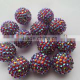 New design Resin Rhinestone Ball beads Attractive Chunky Hot Sale for Jewerly Chunky Kids Necklace Jewelry