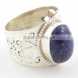 Lapis Lazuli ring 925 silver jewellery Blue stone rings for girls Fashion jewelry Natural gemstone wholesale