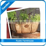 Garden Yard Basket Planter / Planter with dividers