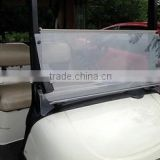 Hot Sale Clear Fold Down Acrylic Windshield For Golf Car