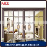 luxurious looks 4 panel tempered glass balcony sliding door design with decoration design