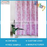 Easy installation with C hook bath hotel cotton shower curtain