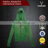Freshing green girl's longsleeves cheap hooded sweatshirts hoodie wholesale
