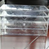 clear acrylic makeup organizer Drawer with 4 drawers