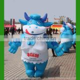 Factory direct sales moving inflatable characters, waking cartoon inflatable cow mascot costume