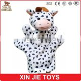 cheap cow hand puppet customize plush milk cow hand puppet educational hand puppet