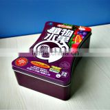 New design food grade tin box bone shape tin candy can