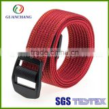 Customized eco-friendly high quality fashionable women webbing polyester waist belts with custom buckles