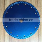 Good quality 180mm cold pressed continuous rim turbo diamond saw blade for cutting stone,granite,marble