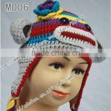 Hot sale !Free shipping 100% cotton crochet multicolor soft monkey hat / crochet beanie caps/ ny fashion hat/ winter hat