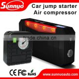 Hot(c) emergency SOS car portable battery jump starter power bank with air compressor/air pump