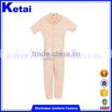 Short sleeve custom made overalls boiler suit coveralls cheap