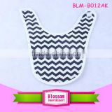 Amazon hot sale design toddler organic cotton bandanas made usa comfort convenient print chevron baby girl bib with embroidery
