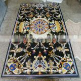 Marble Stone Inlay Dining Table Top, Pietra Dura Stone Inlay Dining Table Tops