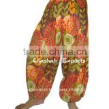 2837 Cotton Printed Trouser Harem Pants Alibaba Trousers Vintage Saree Silk Dress Silk Skirt Top Afgani Aladdin
