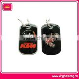 bike racing promotional dog tag necklace