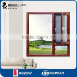 Rogenilan 1314 series burglar proof thermal break aluminum window with mosquito screen