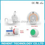 868.4MHz PIR Smoke Detector Smart Home Security Camera System Android IOS App Remote Control