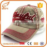 Custom cotton baseball cap contrast stitching 3d embroidery baseball cap