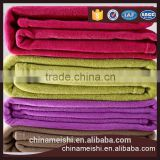 China supplier colorful anti-piling polar fleece blanket and throws