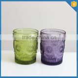Sunflower pattern colored drinking glass manufacturers china                                                                         Quality Choice