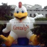 customized inflatable giant rooster/ pvc inflatable advertising rooster model/ inflatable cartoon rooster balloon