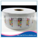 Custom Label self adhesive bottle seal PVC sticker in roll