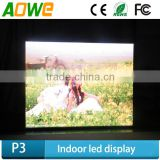 Indoor Application and Wifi network p3.91 high resolution perimeter advertising led display