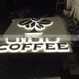 metal stainless steel custom beautiful make up led backlit letters for outdoor advertising