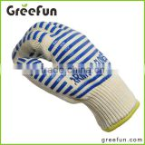 100% Cotton Lining Oven Mitts , Heat Resistant BBQ Grilling Gloves , Kitchen Mat , Grill Accessories Silicone Cooking Gloves