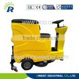 Germany technology cement ground using outdoor ride on washer commercial floor scrubbers machine with lead acid battery