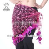 Professional Belly Dance Tribal Hip Scarf/Waist Chains, Belly Dance Costumes Hip Scarf(YL079-1)