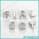 925 sterling silver letter charms,alphabet letter charms,custom made alphabet charms wholesale