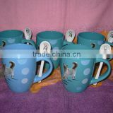 spoon ceramic mug with animal printing