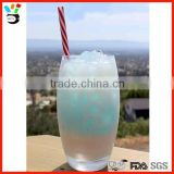 2015 hot selling product high quality mixing glass egg shaped cocktail glass with straw