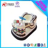 Cake outdoor amusment bumper cars for kids games,bumper cars with player