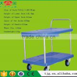 Professional Hand Trolley Supplier,TJG-PLA150-T2 Hand Pull Trolley With 2 Layers