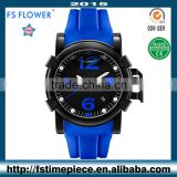 FS FLOWER - Oversize Quality Men's Quartz Watch With Electrostatic Oil Rubber Silicone Band
