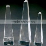 clear crystal blank block with engraved for crystal trophy and award (R-0408)
